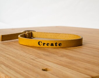 Create Custom Skinny Adjustable Leather Bracelet