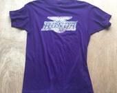 Vintage Honda Tshirt / Plum Crazy / 80's Purple Tee / Motorcycle Logo / Size Medium T-shirt