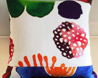 "18""x18"" Marimekko Pillow Cover. Handmade. Pattern:Double-sided,Juhannustaika by Aino-Maija Metsola."