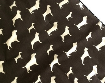 Small  Barking Dog Blanket Brown dog and Green Stipes