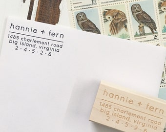 Return Address Stamp  / PERSONALIZED / Wood Stamp / Stationery / Perfect Gift / Pen Pal