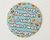 Hangry Paper Sticker, sorry for what I said when I was hungry, fun food sticker, cute stationery, hangry problems, hangry gift idea