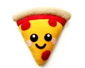 Cute Happy Pizza Plush Cushion