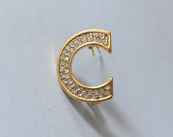 Vintage C monogram pin