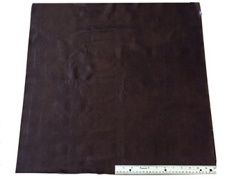 UPHOLSTERY LEATHER PIECE Cowhide Dark Brown Lt Wt 4 Sf