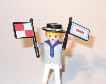 Playmobile Sailor with Signal Flags