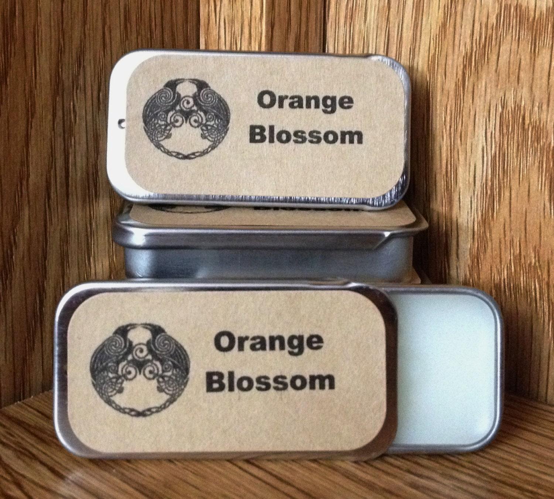Fragrance Orange Blossom Perfume: Orange Blossom Solid Perfume Balm