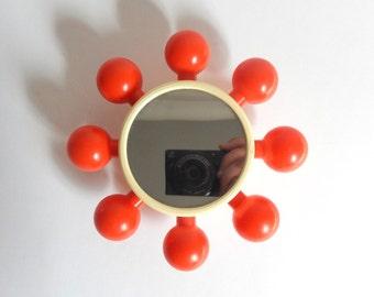 Vintage 1970's Mod Baby Bell Rattle & Mirror by Playskool