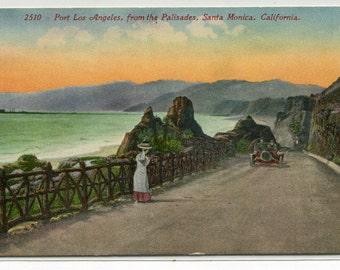 The Palisades Port of Los Angeles Santa Monica California 1910c postcard