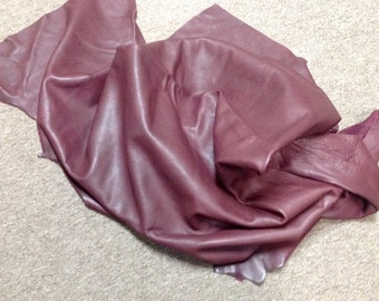 PREM217.  Burgundy Leather Cowhide