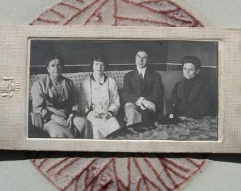 Vintage Photograph Group Gathered Together