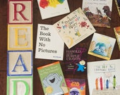 READ Alphabet Block Wall Art Hand Painted Sign by Barn Owl Primitives