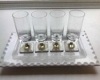 Vintage Rosenthal Crystal - Linear Smoke - Set of Four