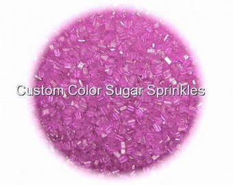 Fuchsia Sugar Crystals Edible Sprinkles Custom Colors Cake Confetti Cake Pop Cookie Decorations 2 oz.