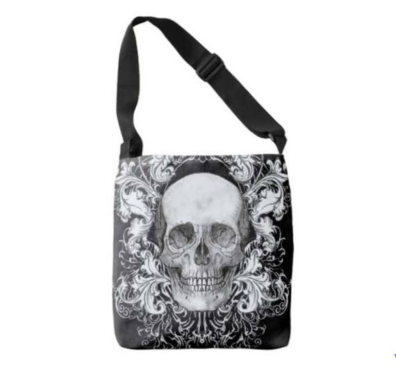 Baroque Anatomical Skull Cross Body Bag