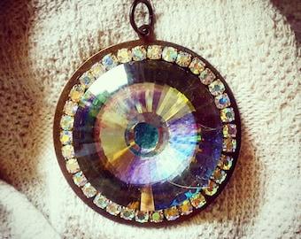 Art I Cake Large Iridescent Glass Pendant