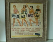 """Vintage Mid Century """"Where The Boys Are"""" 1960 Movie Print Poster"""