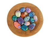 Hand Painted Rocks - Bowl Full of Bug Rocks - Interactive Art Piece - Cute Lil' Buggers