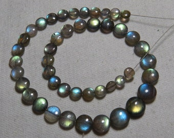 Labradorite - High Quality - AAAAA - Smooth Polished Coin shape Briolletes so Amazing Gorgeous Multy Fire Huge size - 5 - 8 mm - 45 pcs