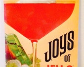 Vintage Cookbook, JOYS of JELLO Gelatin Dessert Cookbook, 1960s, Mod, Retro, Great Condition, General Foods Kitchens