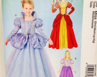Uncut, Misses Size Small Medium Large XL, McCalls Costumes Sewing Pattern MP255, Formal Dress Renaissance Medieval