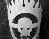 Mad Max Fury Road Citadel etched pint glass