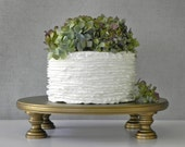 "Gold Cake Stand 16"" Wedding Cupcake Vintage Gold Cake Topper Rustic Wedding Decor E. Isabella Designs Featured In Martha Stewart Wedding"