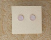 "Dichroic Glass Earrings, Petal Pink 5/16"" DGE-567"