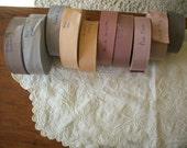 1 1/2 inch petersham/grosgrain cotton/rayon Vintage ribbon