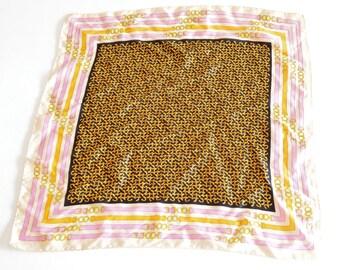 Vintage 1980s BELT print silk scarf