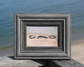 Dad Gift- Beach Word Photography, DAD letters, Beach Stone Word Art, 4x6 Beach Photo, Dad's desk, Dad beach theme gift, Daddy, Father's Day
