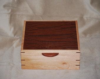 Fantastically Figured Quilted Maple & Beeswing Bubinga jewelry Box