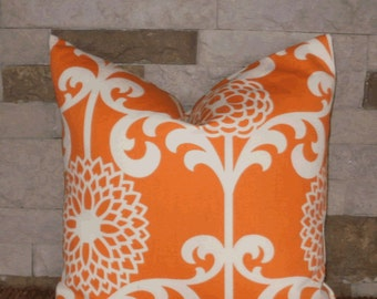 "SALE ~ Decorative Pillow Cover: Waverly 18"" Mango Mod Floral Accent Throw Pillow Cover"