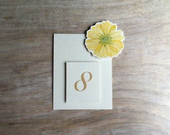 Table Number Tents - Yellow Daisy - Decoration for Events, Weddings, Showers, Parties