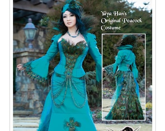 Pick Your Size - McCall's Costume Pattern M7218 by YAYA HAN - Misses' Jacket, Corset, Skirt, Chain Belt and Hat - Original Peacock Costume