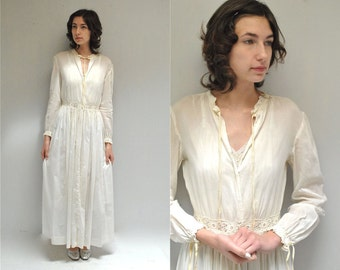 Edwardian Dressing Gown //  Bridal Nightgown  //  THE EDWINA
