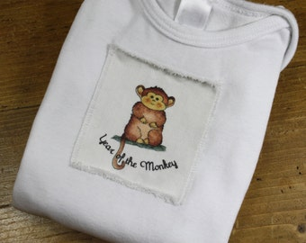 Year of the Monkey 2016 Baby Onesie, Chinese New Year, Onesie Infant Baby Short Sleeve, Sizes: 3-6 Month OR 6-12 Month