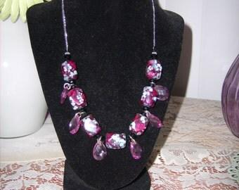 Purple Floral Passion Necklace