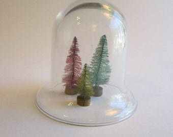 """small glass cloche - 3.5"""" tall - glass dome, dome only"""