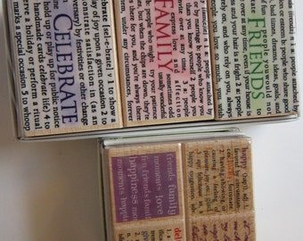 rubber stamps - HERO ARTS Original Definitions and Wordplay - 2 sets