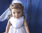 communion dress will fit 18 inch dolls such as American Girl