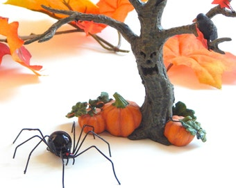 The Smallest Hanging Black Widow Spider Halloween Decoration The Baby Spider Wire Art Insect Arachnid Ornament Small Unique Gift