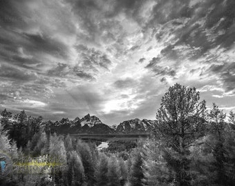 Ansel's View Fine Art Black and White Photographic Print