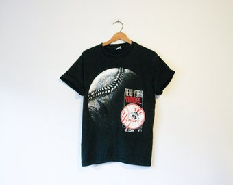 Vintage Black New York Yankees Baseball T Shirt