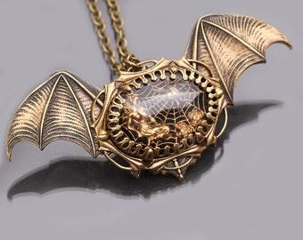 Bat Wings Bat Necklace Bat Pendant Bat Jewelry Gothic