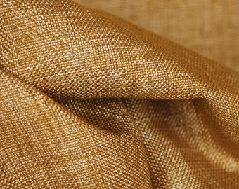 Speedwell Mustard Solid Shiny Yellow Upholstery Fabric