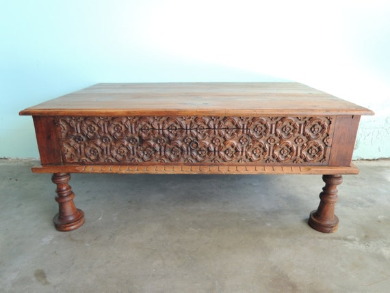 Reserve Jamie Rustic Indonesian Coffee Table Los Angeles