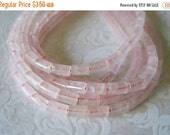 "20% OFF ON SALE 8"" long (40pcs) Pink Jade 3mmx5mm Tube Beads, Gemstone Beads"