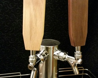 "Paddle Style Tap Handle --  Solid Hardwood --   6"", 8"", 10""  tall -- Personalization Available"