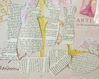 4 X Dress Die Cuts plus tags - Recycled Book - Chanel